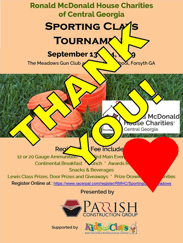 2019 Sporting Clays Thank You