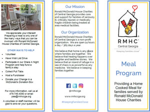 Meal Program Brochure